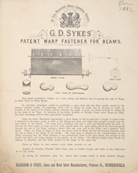 Advert For G. D. Sykes' Warp Fastener For Beams